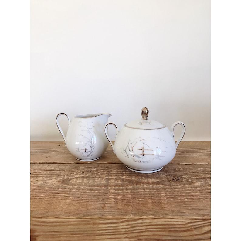 Vintage Winterling Bavaria Double Handle Sugar Bowl and image 0