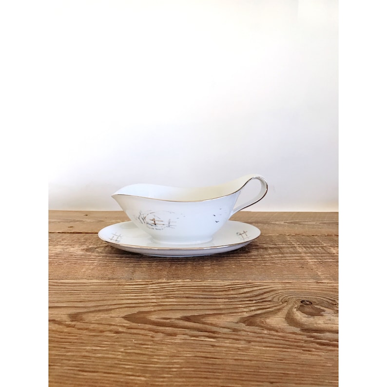 Vintage Winterling Bavaria Gravy Boat with Attached Under image 0