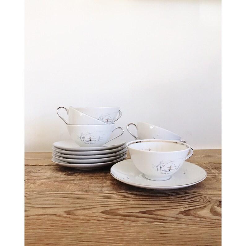 Vintage Winterling Bavaria Tea Cup and Saucer Set image 0