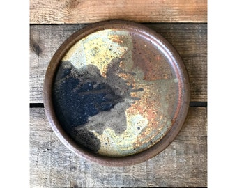 Vintage Hand Made Pottery Dessert Plate / Pie Plate