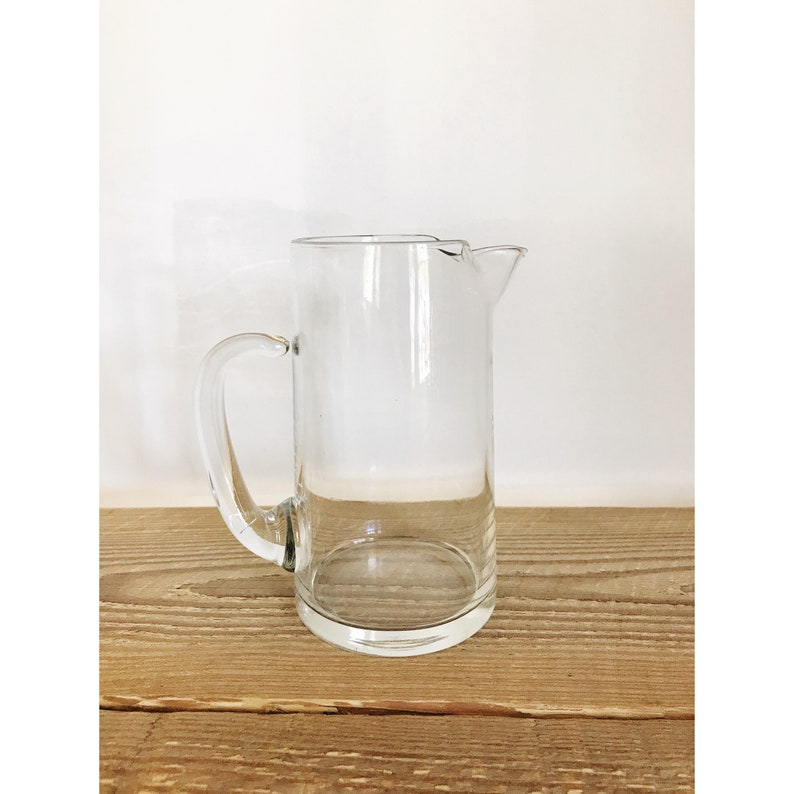 Charmant Small Vintage Clear Glass Pitcher | Etsy