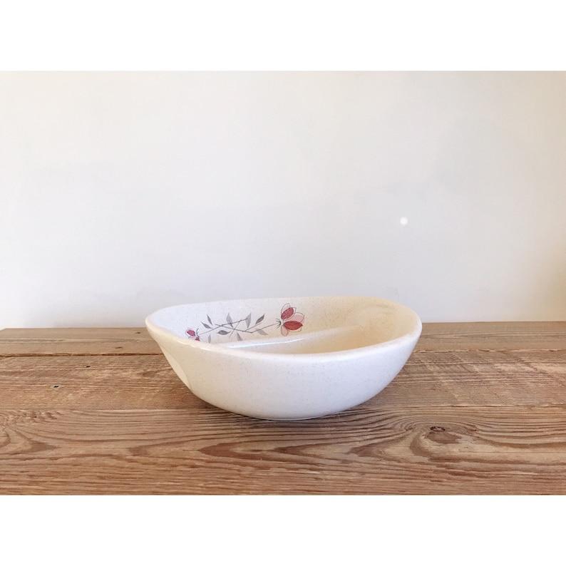 Vintage Franciscan Stoneware Duet Round Divided Vegetable Dish  Vegetable Bowl