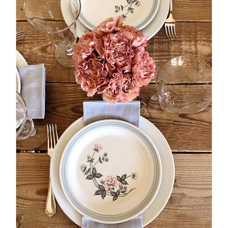 Vintage Set of 5 Country Glen Turnberry Salad Plates  Dessert Plates