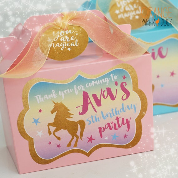 PERSONALISED UNICORN FACE GLOSS BIRTHDAY PARTY BAG FAVOUR SWEET CONE STICKERS