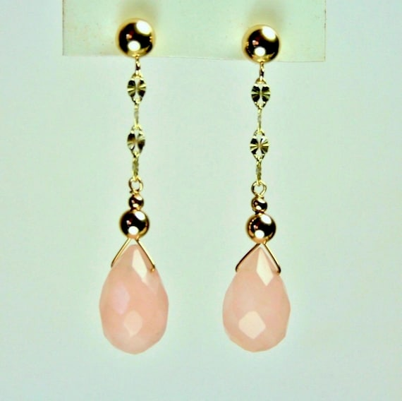 14K Solid White// Yellow Gold Natural Faceted Round Ball Green Quartz Earrings