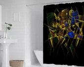 "Dancing African women Art Bath Shower Curtain 71"" x 69"""