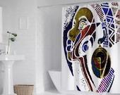 """African Queen Art Bath Shower Curtain 71"""" x 69"""""""