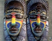 Authentic Beads African mask sculpture for wall | African wall art | Wall Decor | Wooden African Art Scupture