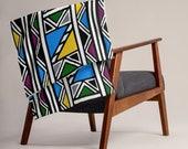 Mud cloth blanket | Ndebele Throw Blanket