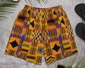 Kente African Print Men's Athletic Swim Shorts