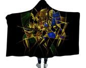 African Woman Art Fleece Hooded Blanket