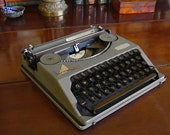 Sorry, Sold Hermes Baby Typewriter, New Platen, 1937, Superb Original Condition, QWERTY, original spools, Fully restored and Guaranteed