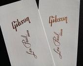 Two Guitar Headstock Waterslide Decals Gibson Les Paul Junior