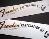 Two Guitar Headstock Waterslide Decals Franken Partscaster 70 39 s