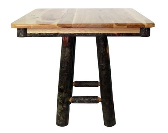 All Hickory 36 Square Kitchen Table 36 inch Counter   Etsy