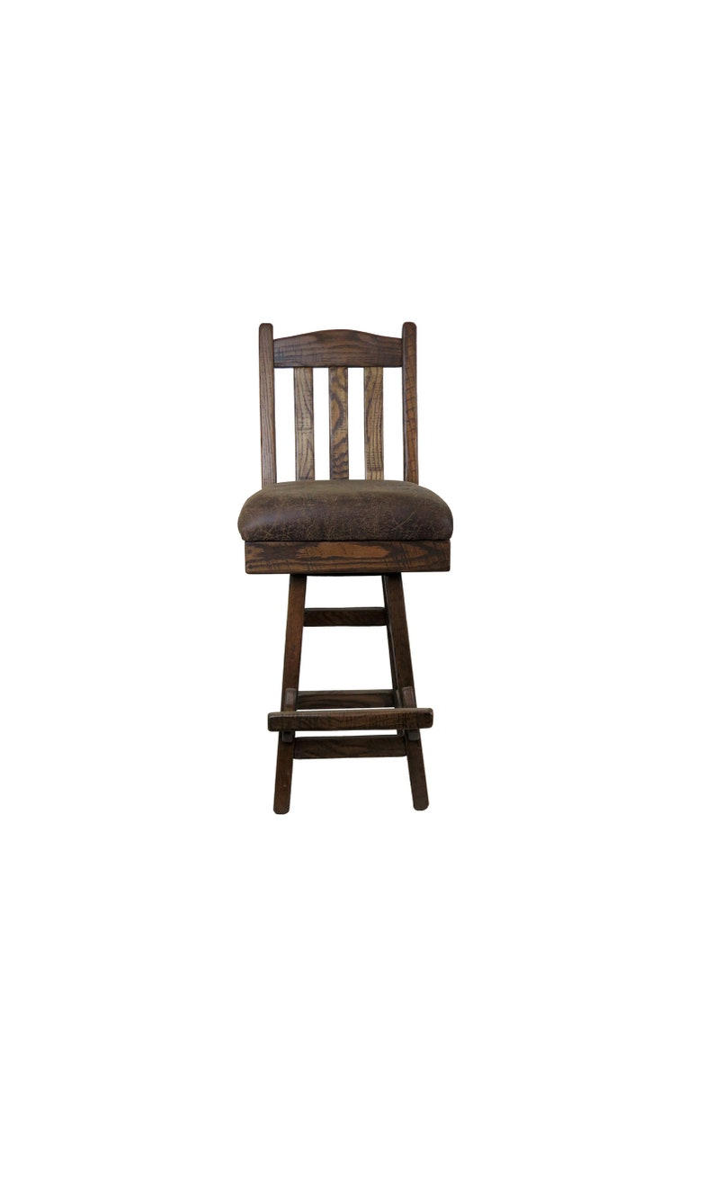Superb 30 Barnwood Swivel Bar Stool With Slat Back And Upholstered Seat Pdpeps Interior Chair Design Pdpepsorg