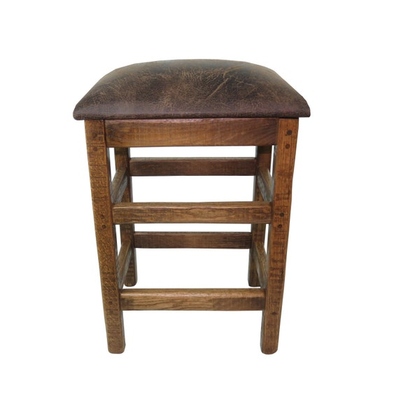 Swell Barnwood Upholstered Bar Stool 24 Or 30 In No Back With Changeable Top Uwap Interior Chair Design Uwaporg