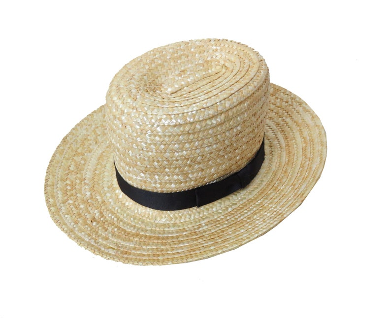 b00e2c50f Child's Authentic Amish Straw Hat Kids