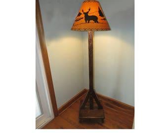 Amish Barnwood Floor Lamp with Shade