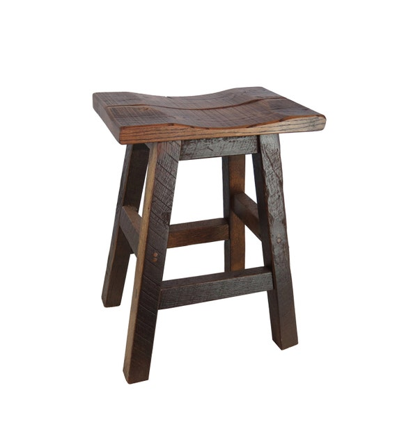Cool Barnwood Bar Stools Saddle Seat 24 Multiple Colors Available Ibusinesslaw Wood Chair Design Ideas Ibusinesslaworg