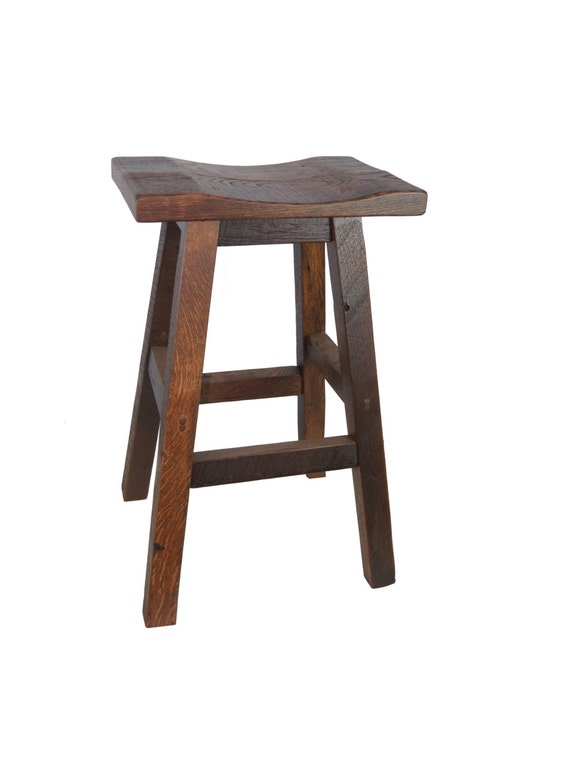 Sensational Barnwood Bar Stools Saddle Seat 24 Multiple Colors Available Ibusinesslaw Wood Chair Design Ideas Ibusinesslaworg