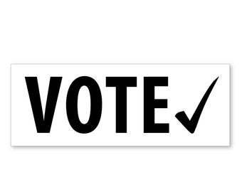 1 VOTE! - White Political Outdoor Bumper Sticker - FREE SHIP!