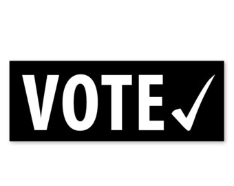 1 VOTE! - Black Political Outdoor Bumper Sticker - FREE SHIP!