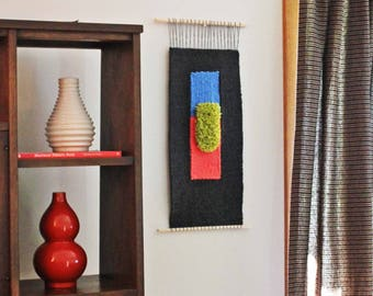 Weaving, Large Wall Weaving Hanging, Modern Wall Hanging, Woven Tapestry, Contemporary Fiber Neon Art, Woven Wall Hanging, Fiber Hanging