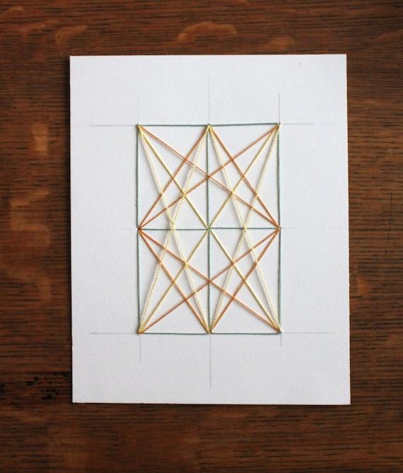 Bordado el papel con el diamante diseño bordado papel | Etsy