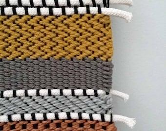Woven Wall Hanging, Long Wall Weaving, Tapestry, Colorful Large Weaving, Large Wall Hanging, Woven Tapestry, Boho Decor, Tissage, Rope Art
