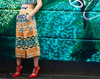 culottes african trousers african clothing african fabric african print ankara print print trousers ankara fabric african fashion