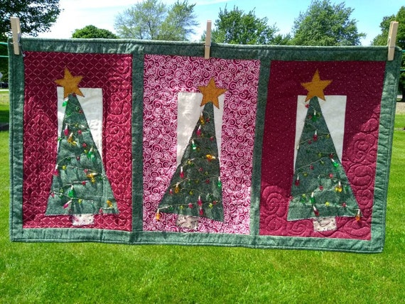 Christmas Tree Quilted Wall Hanging Etsy