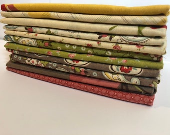 11 Urban Cowgirl Fat Quarters by Urban Chiks- Moda Fabrics