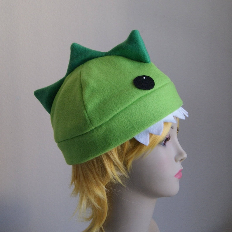 Ready-to-Ship   NOMSTER the Dinosaur Fleece Dino Beanie Hat  83ca7a6ede1