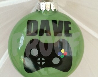 Xbox personalized christmas ornament.