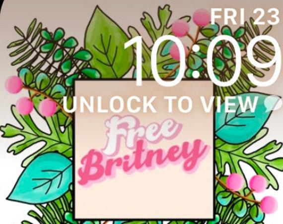 Free Britney Apple Watch Background Wallpaper Instant Digital Download