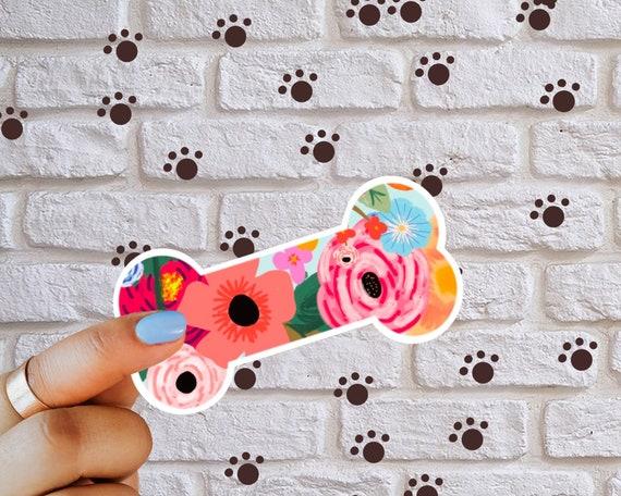Dog Bone Dog Mom Flower Decal Sticker
