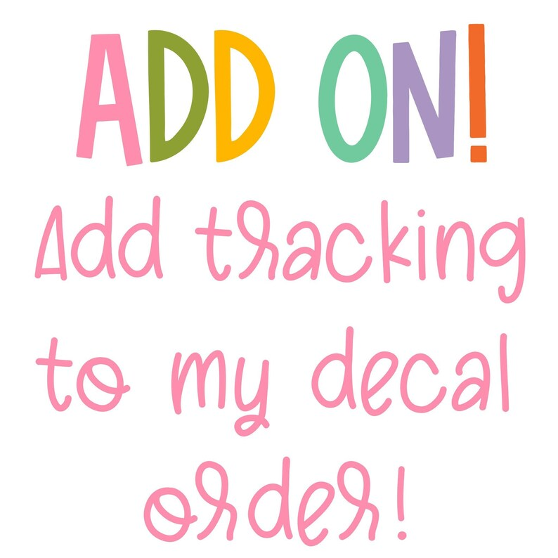 Track My Decal Shipping Add On image 0