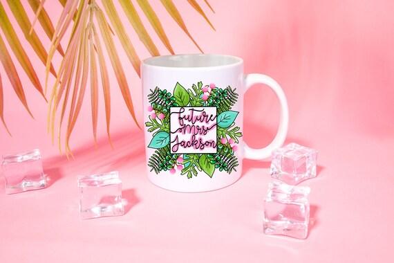 Custom Future Mrs. Mug Preppy Tropical