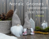 Chrochet Gnome Pattern 2 SIZES. Scandinavian gnome Chrochet PDF Pattern. Nordic Gnomes Pattern. Easter Gnome. Christmas Gnomes