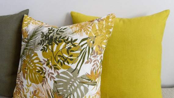 Pillow Covers Lime Tropical Plants