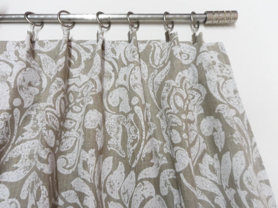 Natural linen valance. Kitchen curtain. Cafe curtains valances.  Scandinavian style