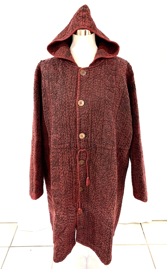 Red large size jacket,Deep red hoodie, cotton quilted jacket, Unisex large size hoodie.dark red winter jacket