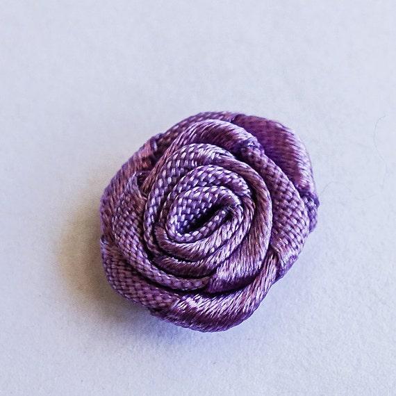 Miniature Variegated Light Purple  Ribbon Rose Buds