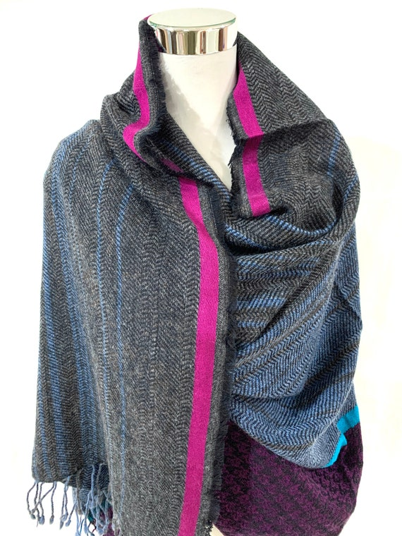 Oversized winter wrap, Super soft cotton wool wrap shawl,Grey soft wool n cotton blend shawl, soft and feel good wrap