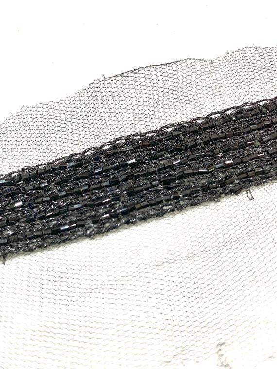 Black beaded trim,Black hand beaded trim, fashion trim, sash trim,Sari border, Home decoration trim.