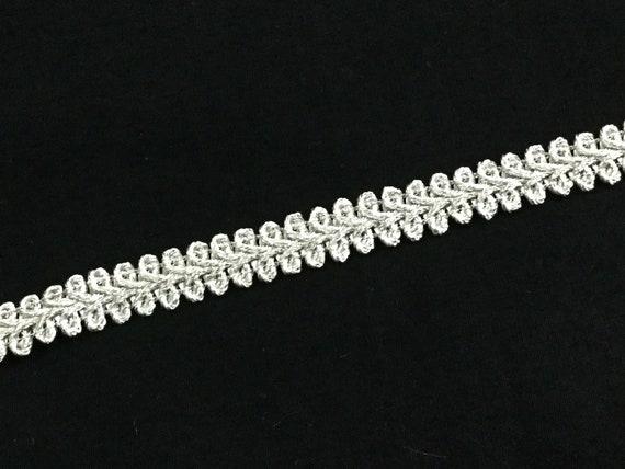 Bridal Showers Trim - Silver Trim - Refined Pattern Trim - Double Arched Edges - Slim Trim - Fashionable Trim - Bridal Gown Trim