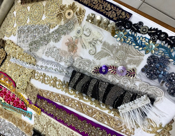 Bargain Bag, collection of quality trims, fabric scraps.
