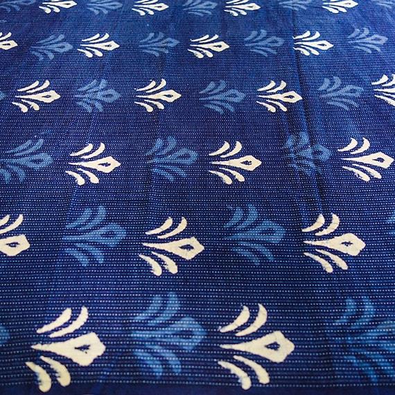 Blue Cotton Fabric, Cotton Fabric, Blue Fabric, Indigo Fabric, Indigo Cotton Fabric, Blue Design Fabric, Royal Blue Fabric, Blue Pattern