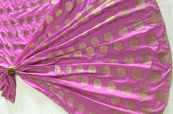 Light Pink Banarasi Chanderi Zari Brocade Fabric, Premium Jacquard Cotton Art Silk Material, Traditional Dress Shawl Saree Scarf